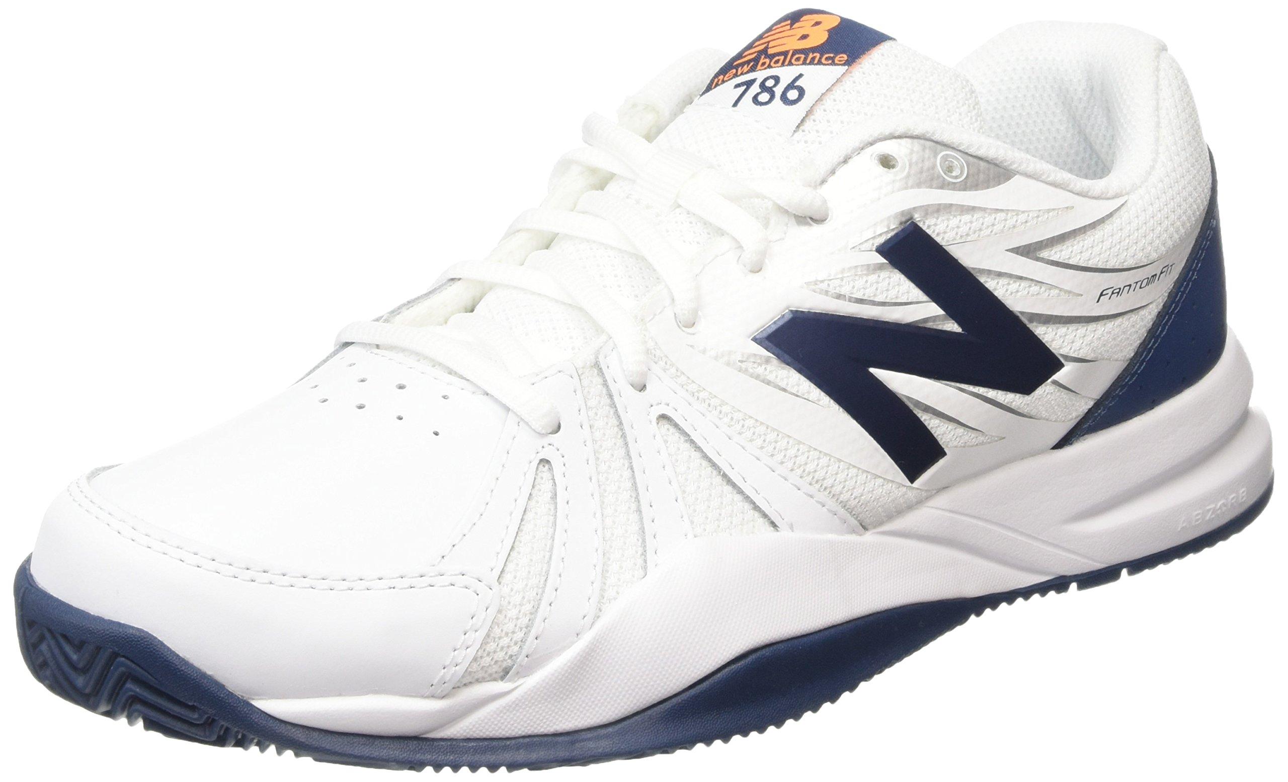 New Balance Men's Cushioning Tennis Shoe, White/Blue, 15 D US