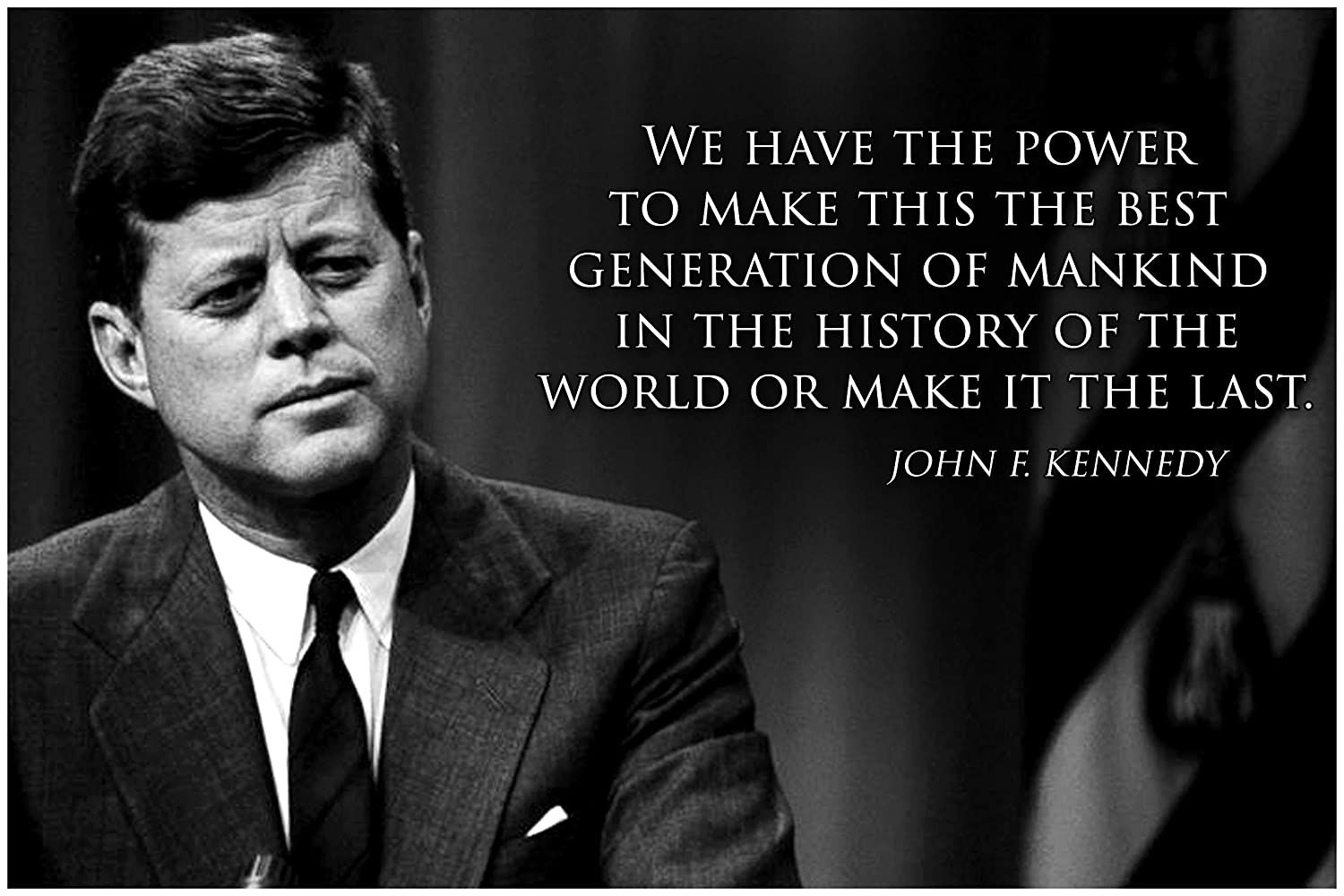 John F Kennedy Quotes | Amazon Com Jfk Classroom Quote Poster Decorations Growth Mindset