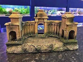 AQL Décoration pour Aquarium Motif monastère Grecque: Amazon.fr ...