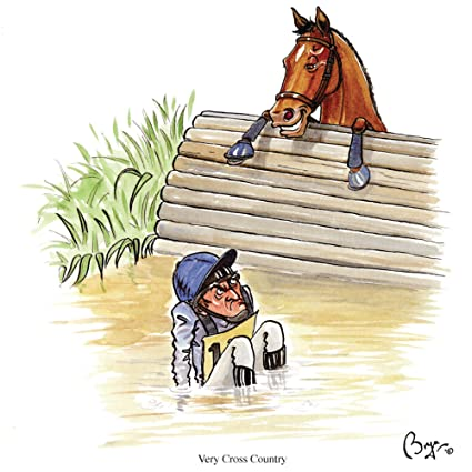 Amazon Very Cross Country Horse Eventing Greeting Birthday