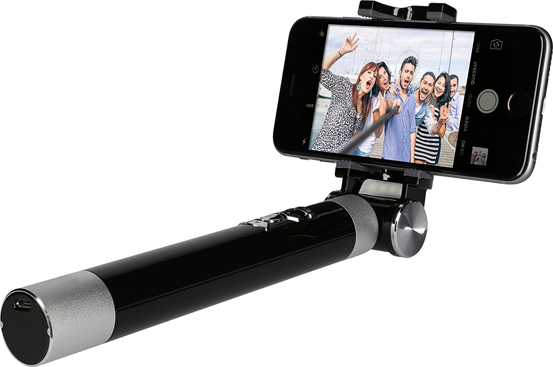 de Rollei para tel/éfonos inteligentes y c/ámaras de hasta 500 g incl Rollei Selfie Stick 4 Traveler soporte para smartphone Bluetooth connection Negro Barra para Selfie 4 Traveler mon/ópode