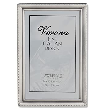 Amazon.com - Lawrence Frames Antique Pewter 4x6 Picture Frame - Bead ...