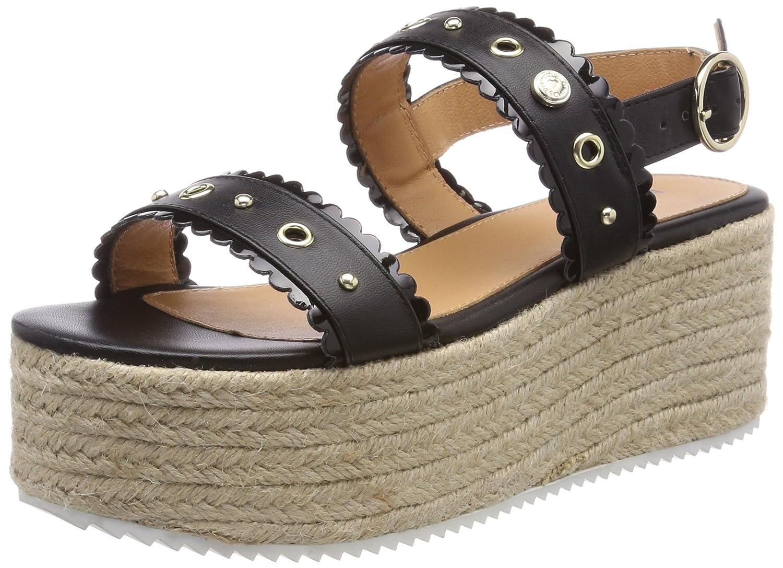 Womens San.Lod.Sand/70 VIT.Pu+Ver.Pu Platform Sandals, Nero Love Moschino