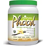 PlantFusion Phood Plant Based Meal Replacement Protein Powder, Vanilla, 18g Protein, 10 servings, 15.9oz Tub