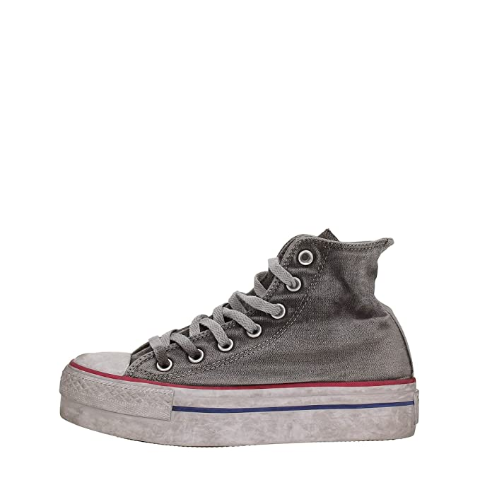 Converse, Unisex adulto, Chuck Taylor All Star High Canvas LTD Op White Smoke In, Tela, Sneakers Alte, Grigio, 40 EU