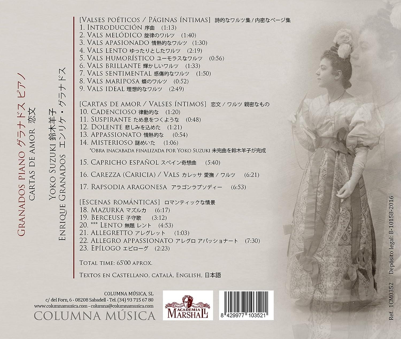 Granados Piano: Cartas De Amor: Yoko Suzuki, Enrique ...