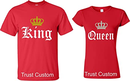 : Couple Matching Love T Shirts King And Queen
