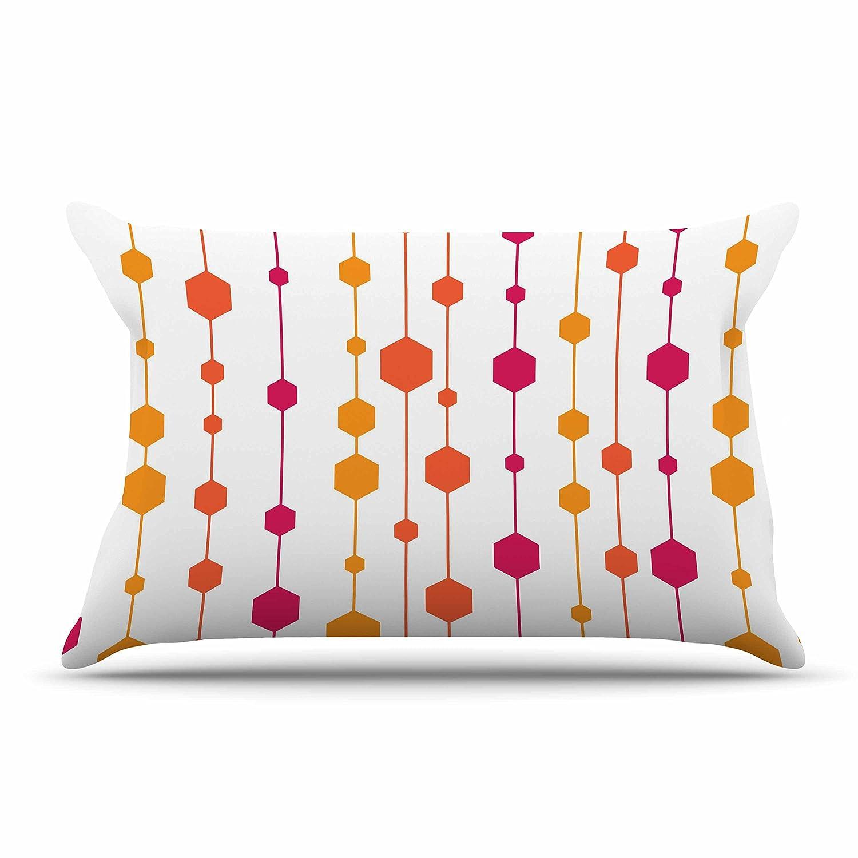 Kess InHouse NL Designs Warm Dots White Pattern Standard Pillow Case 30 X 20 30 by 20-Inch