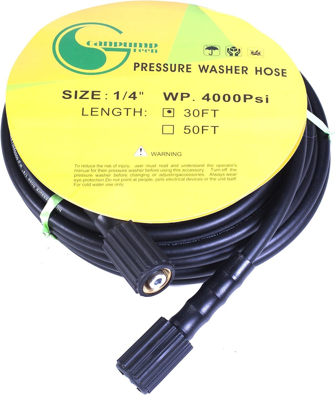 Pressure Washer Hose Hose 1//4″ 4000 PSI M22 Connector 30ft Power Washer Hose NEW