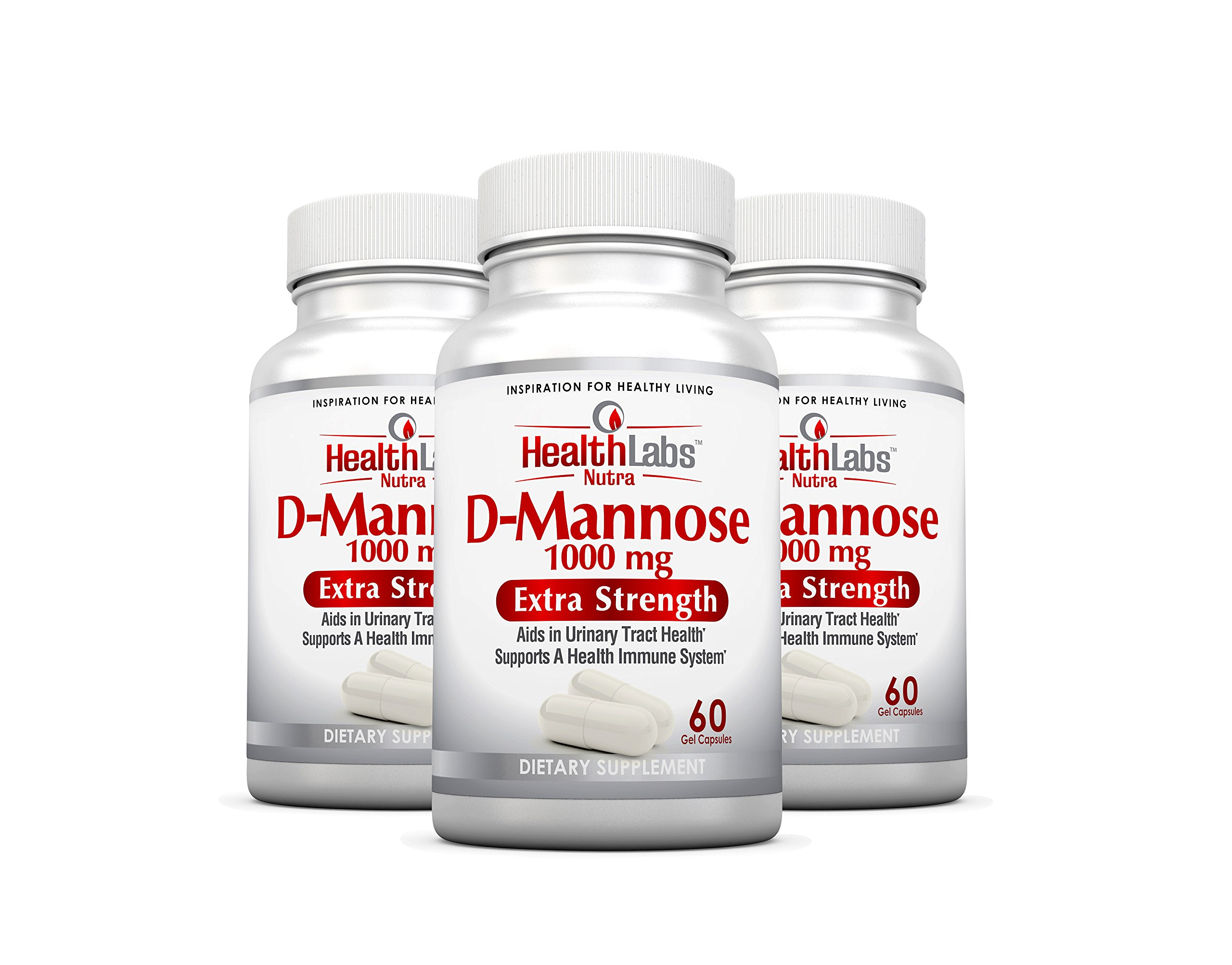 Health Labs Nutra D-Mannose 3-Month Supply 1,000mg - Fight Urinary Tract Infections & Promote a Healthy Bladder (Pack of 3) by Health Labs Nutra
