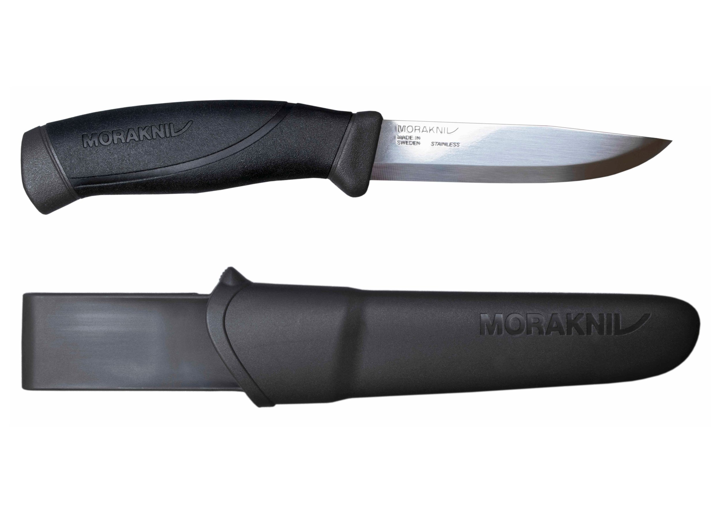 Morakniv Companion Fixed Blade Outdoor Knife with Sandvik Stainless Steel Blade, 4.1-Inch, Anthracite (Gray)
