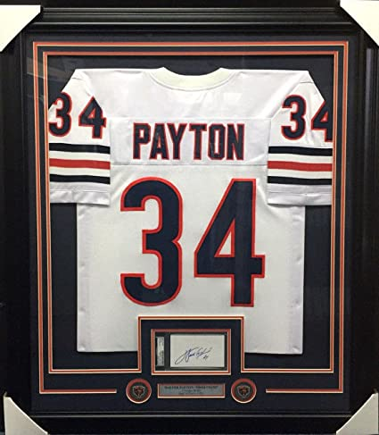 brand new 5a6e3 f6635 Walter Payton Coa Autographed Index Card Framed With Chicago ...
