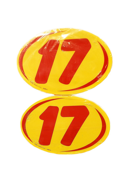 Great Link Oval Model Year Windshield Dealer 2 Dozen Stickers 2 Digit Yellow//Red Window Sticker R//Y 2015