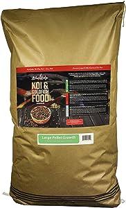 Blue Ridge Fish Food Pellets [50lb], Koi and Goldfish Growth Formula, Floating 3/16
