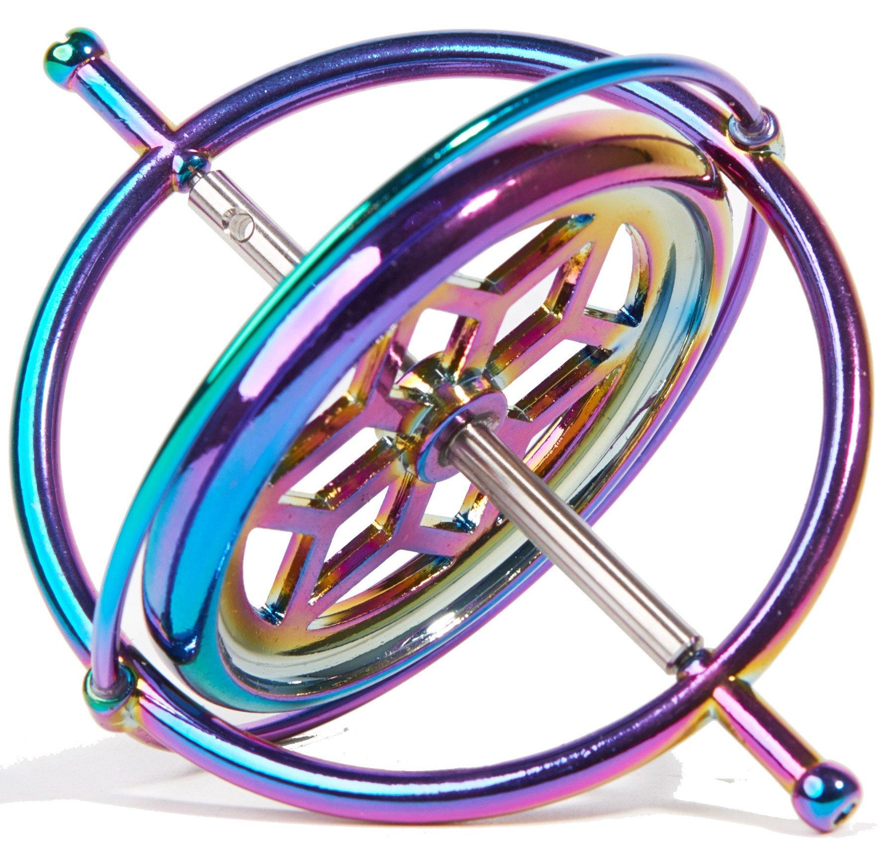 Joytech Precision Gyroscope Kill Time Metal Anti-Gravity Spinner Balance Toy Colorful JA05 by Joytech (Image #2)