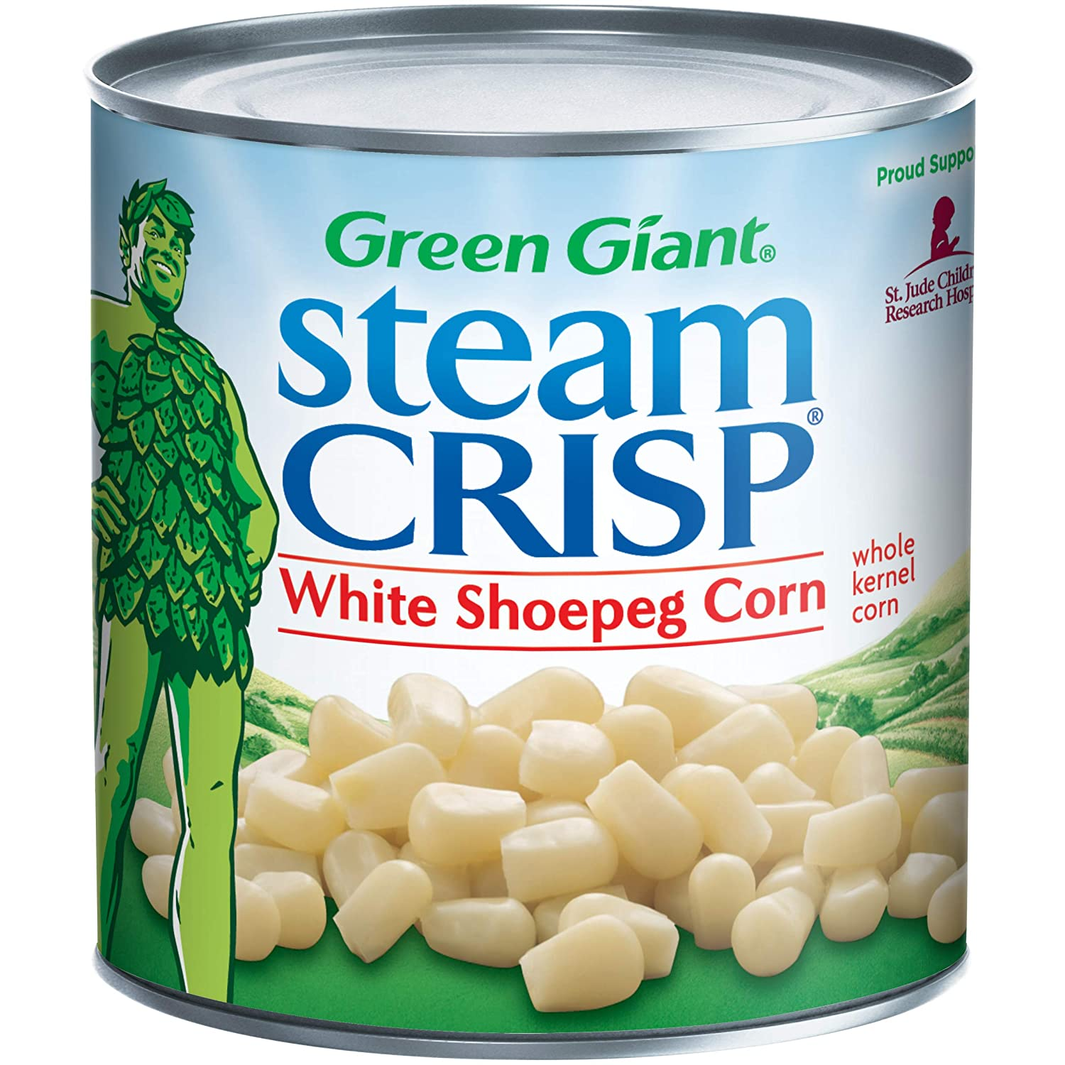 Green Giant SteamCrisp White Shoepeg Whole Kernel Corn, 11 Ounce Can (Pack of 12)