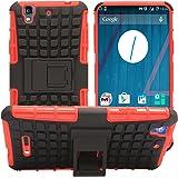 DMG Dual Hybrid Hard Grip Rugged Kickstand Armor Case for YU Yureka Plus (Red)
