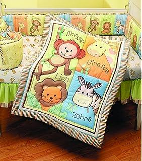 summer infant juego de piezas para cuna de la coleccin monkey jungle neutro