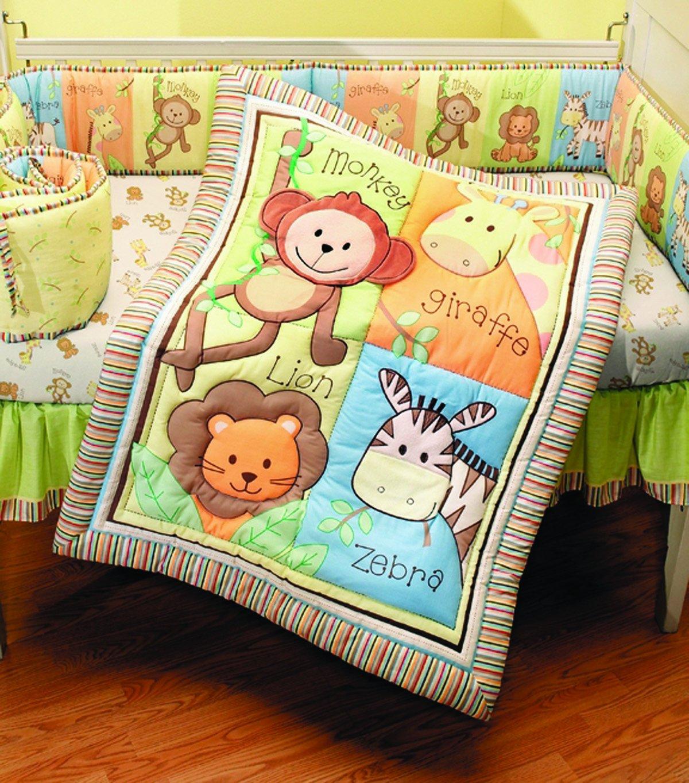 Amazon.com : Summer Infant 4 Piece Monkey Jungle Collection Crib Set ...