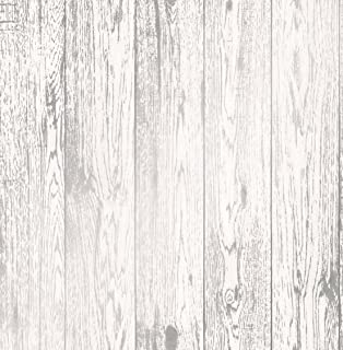Fine Decor FD41957 Loft Wood Wallpaper White