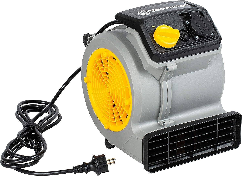 Vacmaster Air Mover Ventilador de 124 W con 3 velocidades   Secador de alfombras silencioso, pequeño y ligero para refrigeración, ventilación, secado y eliminación de daños por agua