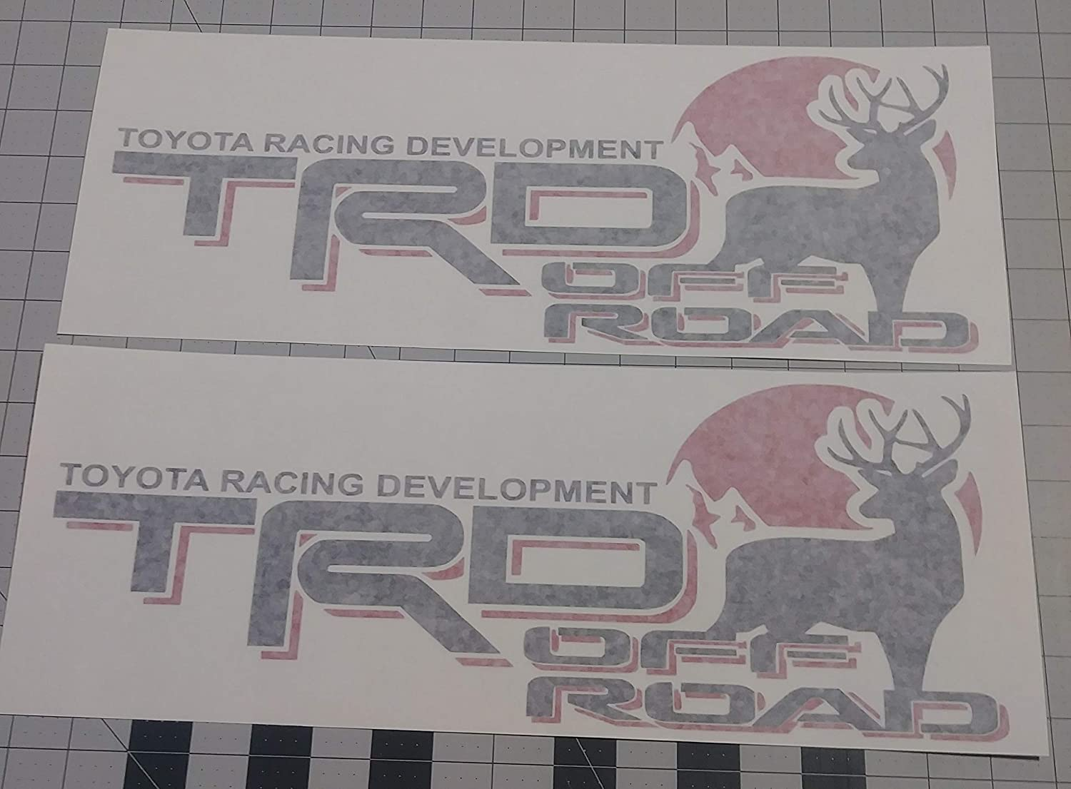 Amazon com toyota trd truck off road 4x4 racing deer hunting tacoma decal vinyl stickers white red arts crafts sewing