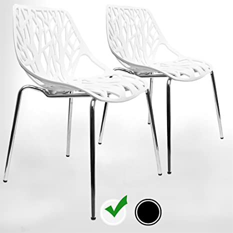Excellent Urbanmod Modern Dining Chairs Set Of 2 By White Chairs Kid Friendly Birch Chairs Stackable Modern Chair Mid Century Dining Chair Ibusinesslaw Wood Chair Design Ideas Ibusinesslaworg