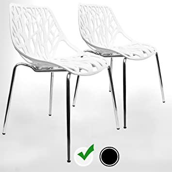 Modern Dining Chairs (Set Of 2) By UrbanMod, White Chairs, KID