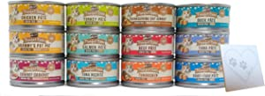 Merrick Purrfect Bistro Grain Free Canned Cat Food Variety Bundle, 12 Flavors: Chicken, Salmon, Tuna, Turkey, Duck, Beef, Tuna Nicoise, Grammy's Pot Pie, and more (3 Oz each, 12 Cans Total)