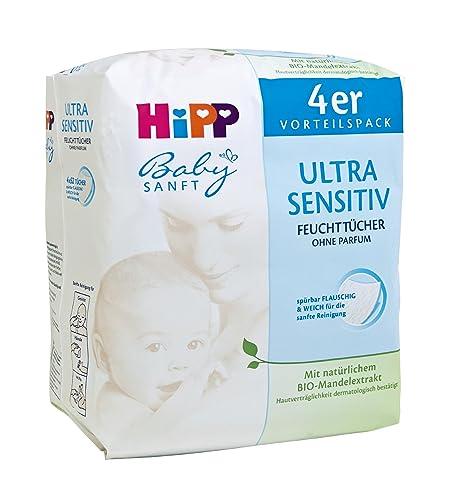 Hipp Babysanft Toallitas Ultra Sensible, 4x52, 3-pack (3 x 208 toallitas