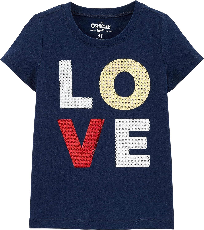 OshKosh BGosh Girls Sequin Short Sleeve T-Shirt