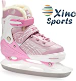 Deluxe Adjustable Ice Skates - for Boys and Girls, Two Awesome
