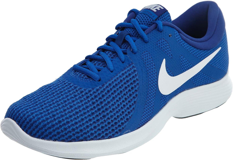 Nike Revolution 4 Zapatos de correr para hombre, Azul, 9.5