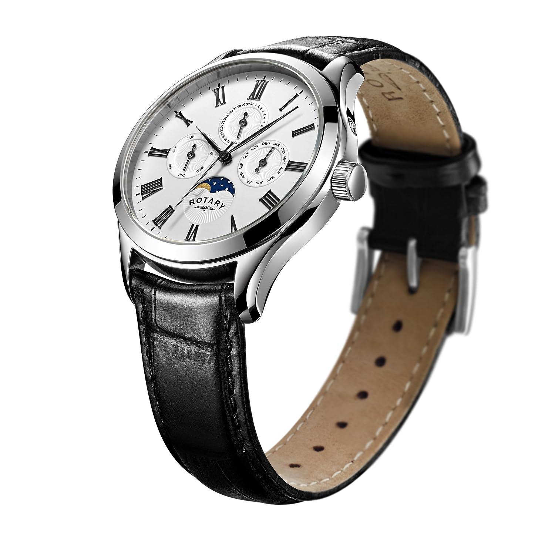 Rotary Herren-Armbanduhr Chronograph Quarz Leder - GS00650-01