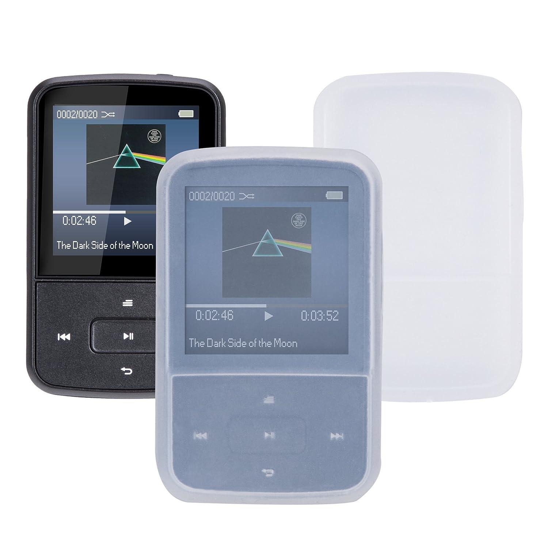 Color Negro Mini Clip Bluetooth Reproductor de MP3 8 GB TFT Pantalla 1.5 Pulgadas con Radio FM AGPTEK G05S