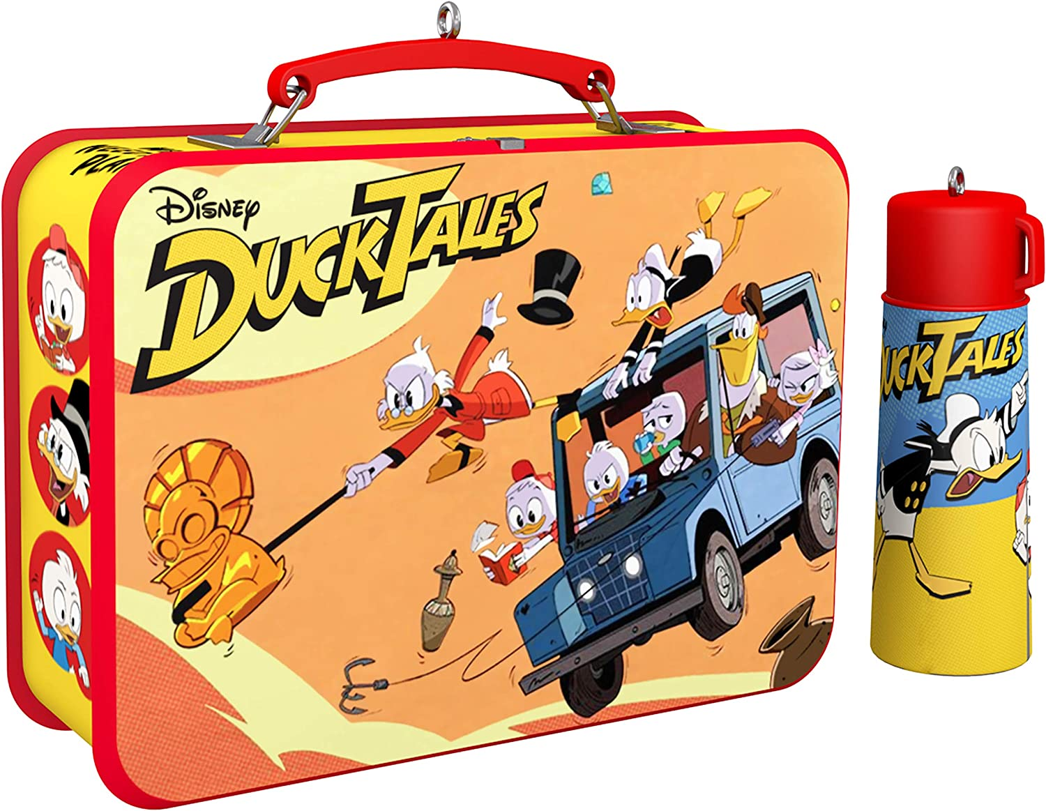 Hallmark Keepsake Christmas 2019 Year Dated Disney DuckTales Lunchbox and Thermos Ornament, Set of 2, 2 Count