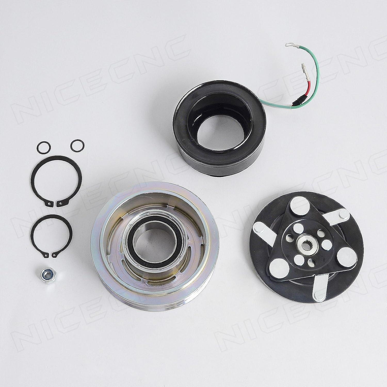 NICECNC AC A/C Compressor Clutch Repair Hub, Pulley, Coil, Bearing Kit for Honda CR-V 2.4L Engine ALL MODELS 2007 2008 2009 2010 2011