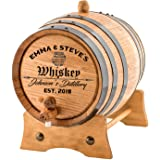 Personalized - Custom Engraved American Premium Oak Aging Barrel - Age your own Whiskey, Beer, Wine, Bourbon, Tequila…