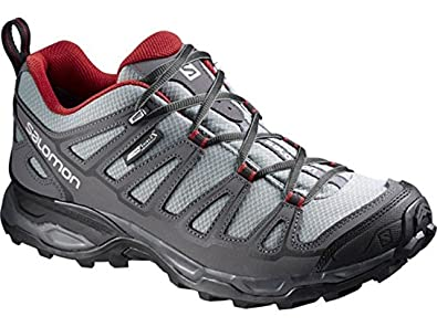 Men's X Ultra Prime CS WP Hiking Shoes and Free Collapsing Waterbottle Bundle