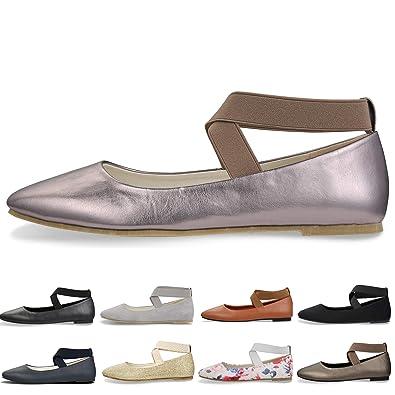 c9b05db9fe7c8 Comfortable Classic Flats Women's Shoes Black Walking Ballet Elastic  Crossing Straps