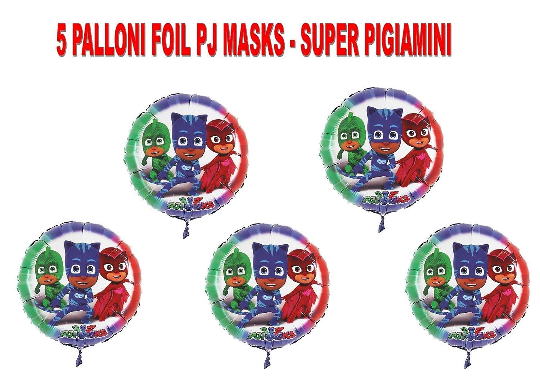 PARTY STORE WEB by casa dolce casa PJ Masks Super pigiamini Lagartija gufetta gattoboy addobbi Día - CDC- (5 balones Foil de infla con Aire o Helio): ...