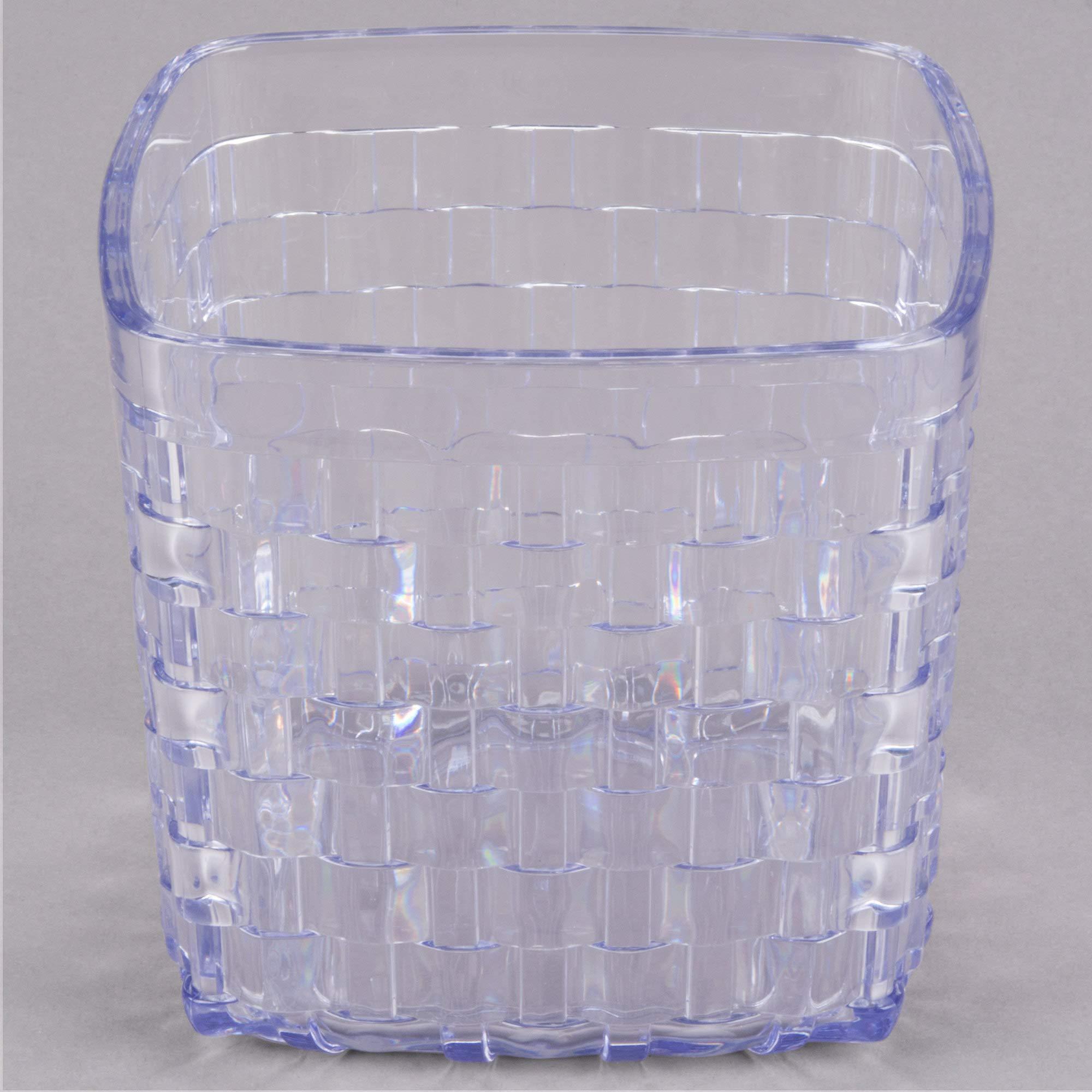 TableTop King 35607 3 Qt. SAN Plastic Serving Basket 6 1/2'' x 6'' - 6/Case