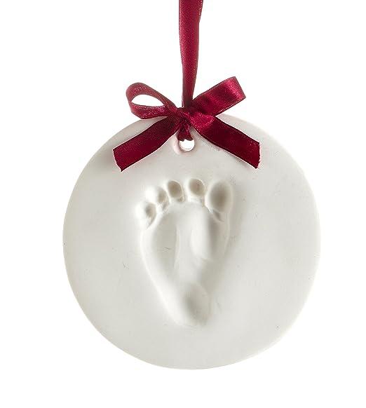 Tiny Idea's Baby Handprint or Footprint Ornament Kit - Makes a Great Holiday Gift and Keepsake