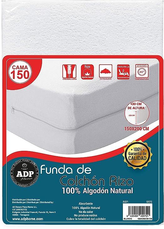 ADP Home - Funda de colchón Tejido Rizo Algodón Natural ...