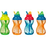 Munchkin 4 Pack Mighty Grip Flip Straw Cups, 9 Ounce (Discontinued by Manufacturer)