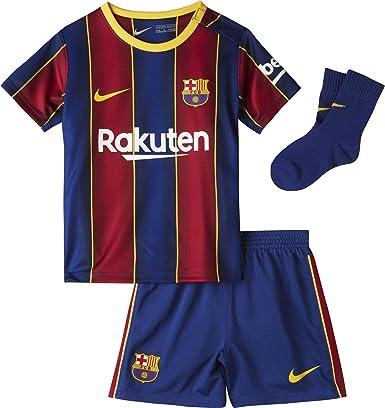 NIKE FC Barcelona Temporada 2020/21 - FCB I Nk BRT Kit Hmcd4607-456 Kit Completo Primera Equipación Niños
