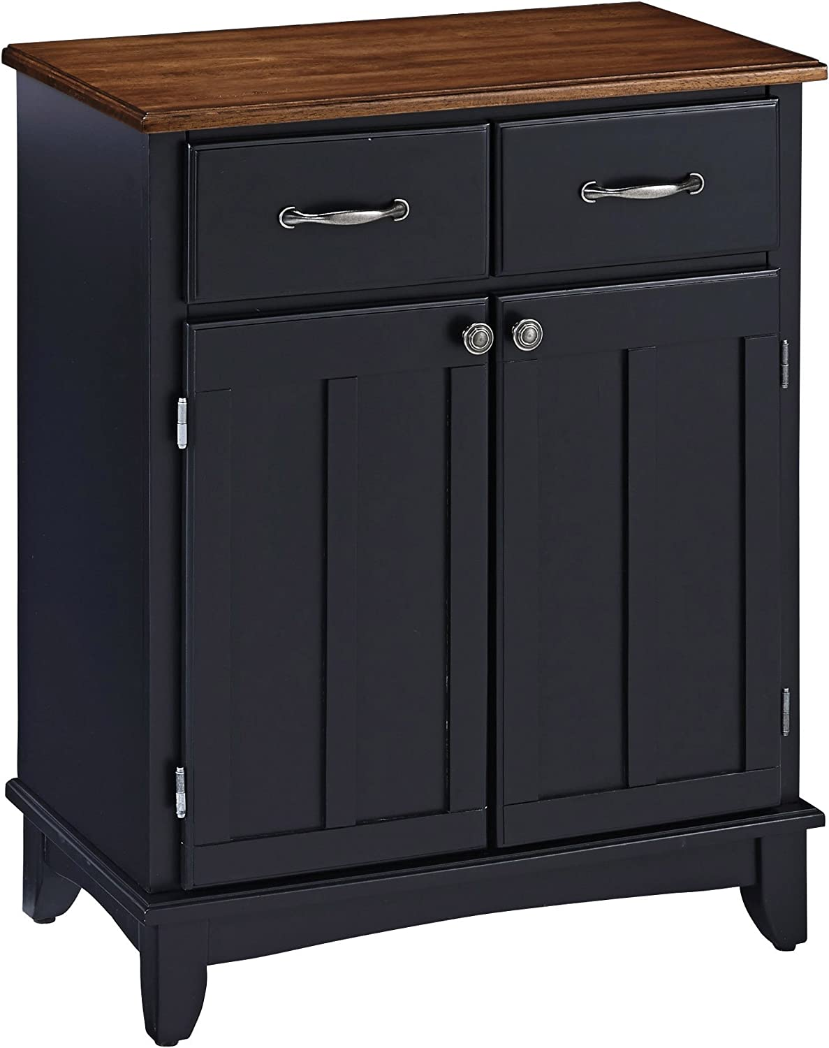 Buffet of Buffets Black with Cottage Wood Top by Home Styles