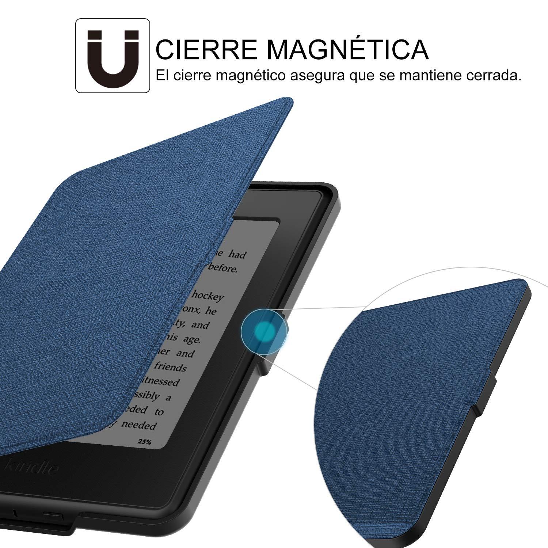compatible con de Kindle Paperwhite 1//2//3 AZUL MARINO) Tsing Funda Kindle Paperwhite de Cuero Sint/ético Cierre Magn/ético Ultra Delgado
