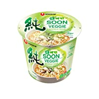 Deals on 6-Pack Nongshim Soon Cup Noodle Soup, Veggie, 2.6 Ounce