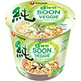 Nongshim Soon Cup Noodle Soup, Veggie, 2.6 Ounce (Pack of 6)